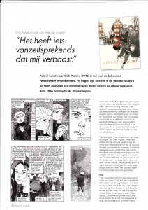 Interview in het Pulcri-blad; Dick Matena over Kees de jongen; 13 mei 2012